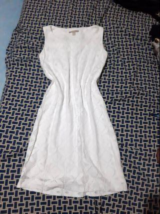 Banana republic White Sleeveless Embroidered dress formal Casual