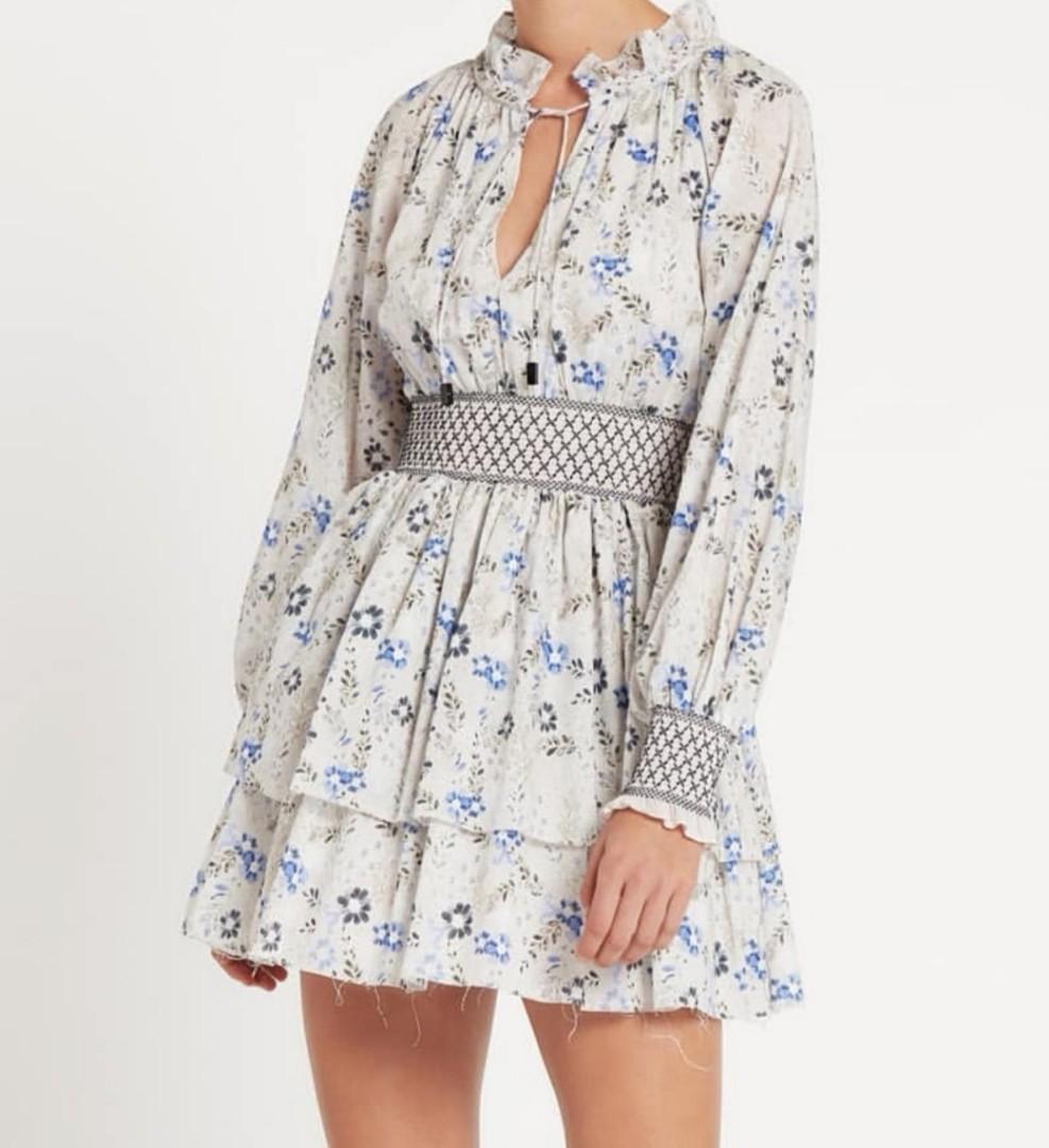 Aje Huxley Mini Dress in Wildflower Print - Size 6 RRP $375