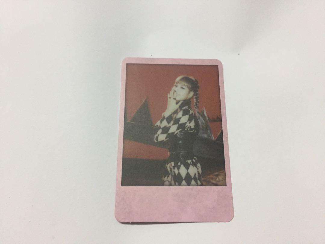 WTS Blackpink Kill This Love Pink Ver Lisa Polaroid