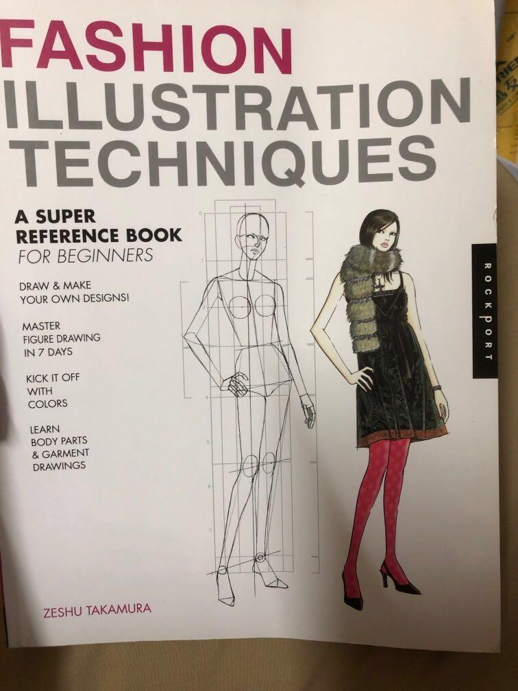 Bn Fashion Illustration Techniques Book Books Stationery Non Fiction On Carousell