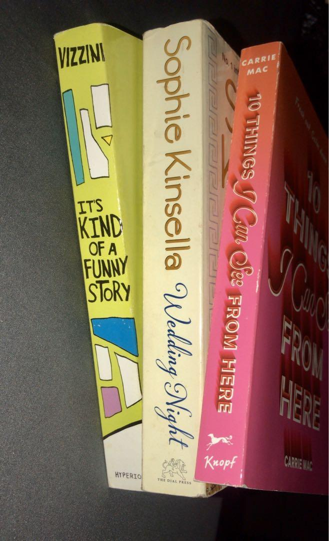 BOOK SALE!! It's Kind of a Funny Story, Wedding Night and 10 Things I Can See From Here