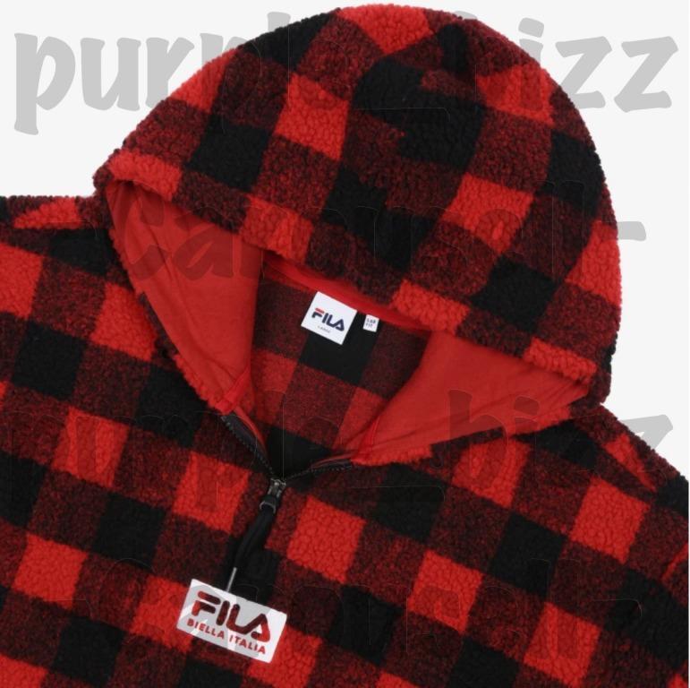 BTS FILA BOX Logo Boa Hooded T-shirt Dark Red FS2POB4106X_DRD