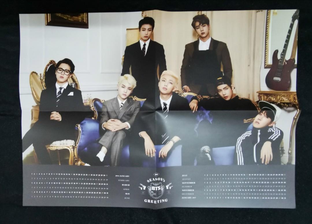 BTS SEASON GREETING 2016 - poster calendar and desk calendar
