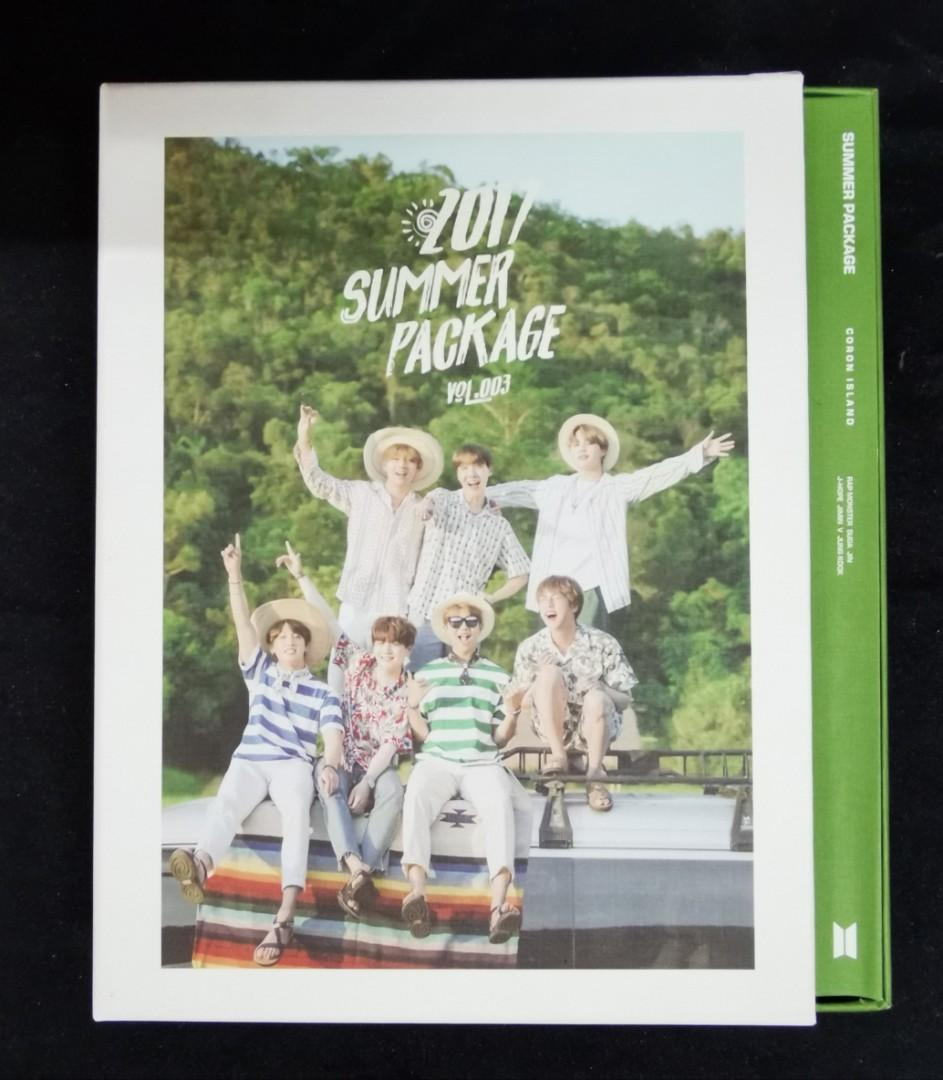 BTS SUMMER PACKAGE 2017 - outsleeve case, making dvd, photobook