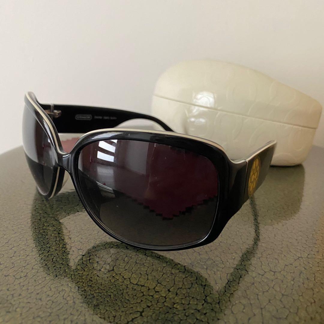 Coach Simone black sunglasses authentic s805 BUSHFIRE appeal