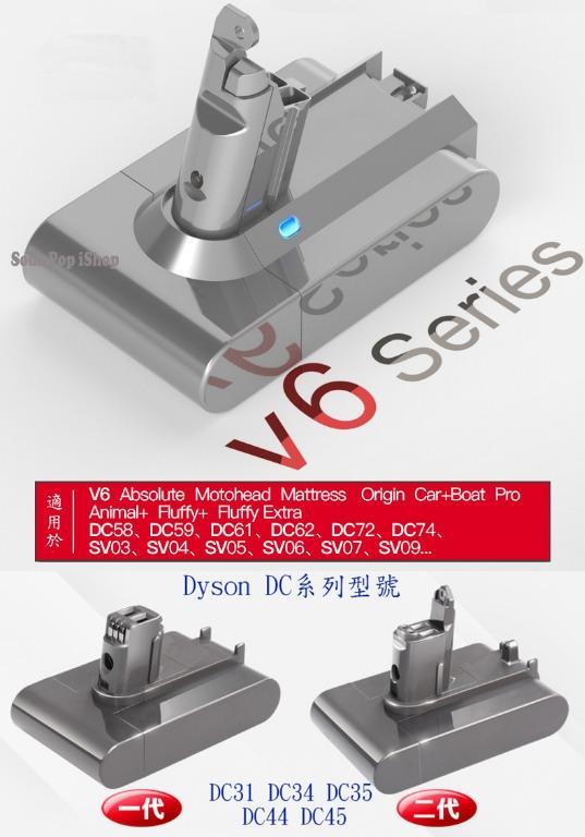 Dyson V6,V8 Battery~濾芯 TP04 TP05 HP04 HP05 DP04 HP00 HP02 HP03 DP01 DP03 TP00 TP02 TP03 AM11 BP01 電池 V6 V7 V8 V10