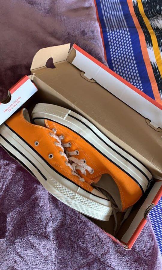FREE POSTAGE Orange never worn Converses size EU 41
