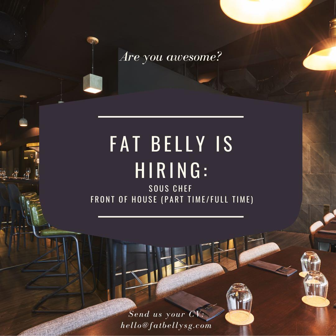 Full time Front of House/Junior Sous Chef