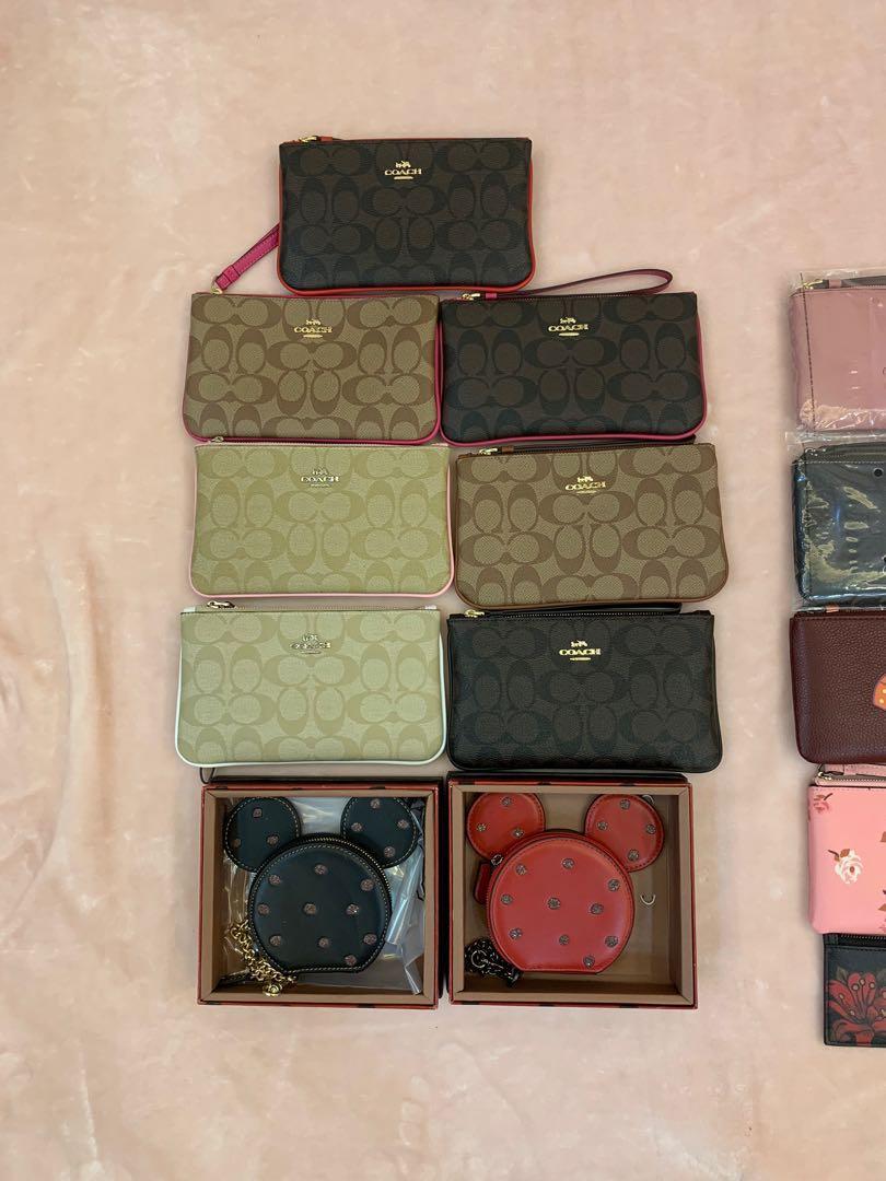 (Jan 2020)Ready Stock original coach women men wallet purse clutch Wristlet sling bag purse