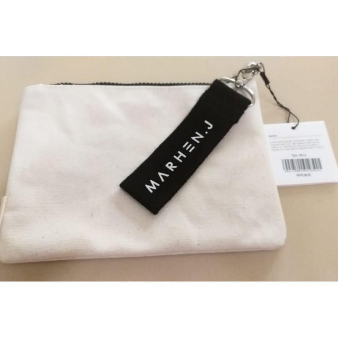 Marhen J White tinny pouch/clutch ORIGINAL from korea store (stok:2) (NEW MASIH BERPLASTIK)
