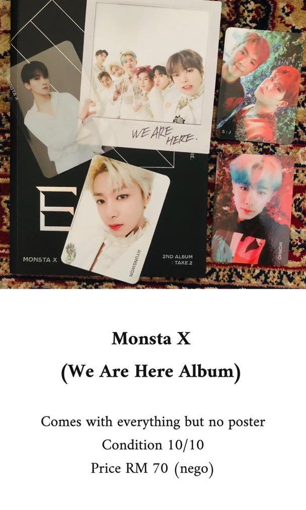 Monsta X We Are Here Album (Ver. E) without poster