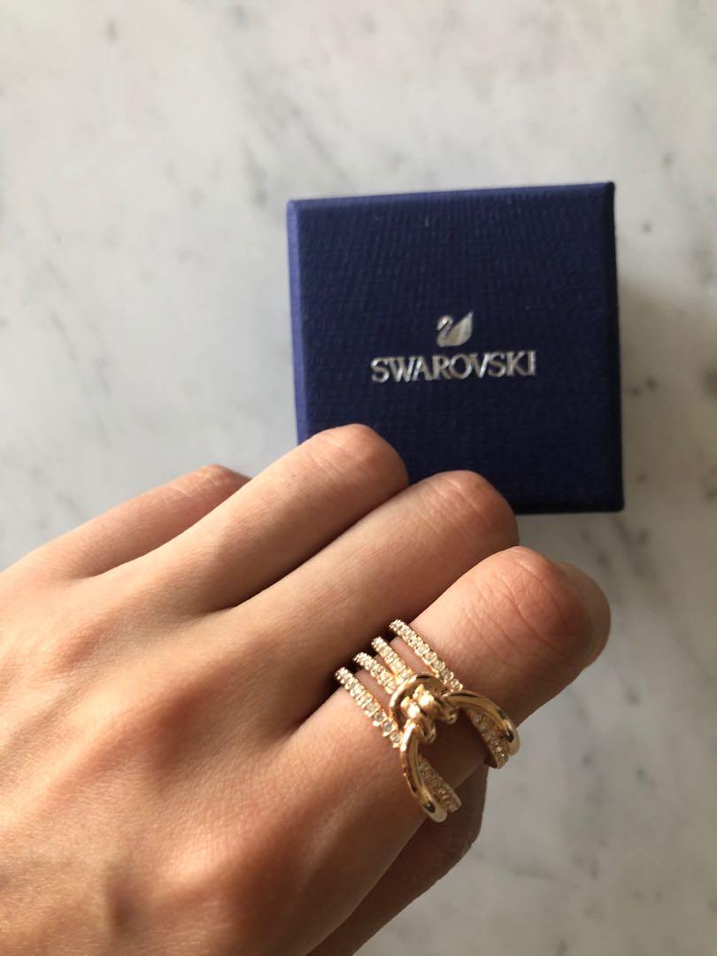 NEW Swarovski Lifelong Rose Gold Crystal Ring RRP$200