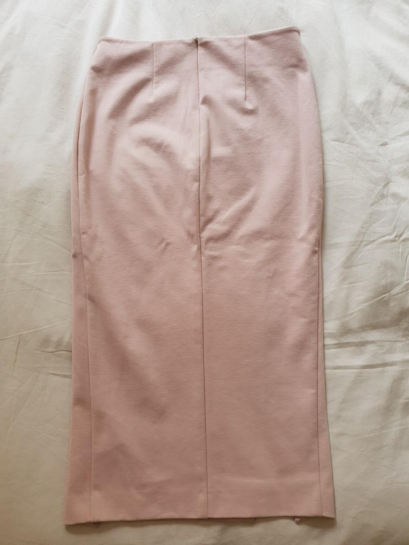 Nicholas Ponti double split long skirt in nude size 8