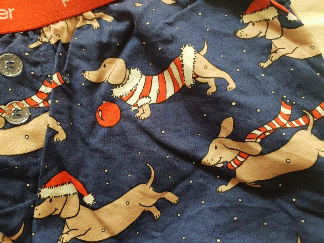 Peter Alexander Christmas Sausage Dog Boxer PJ Shorts