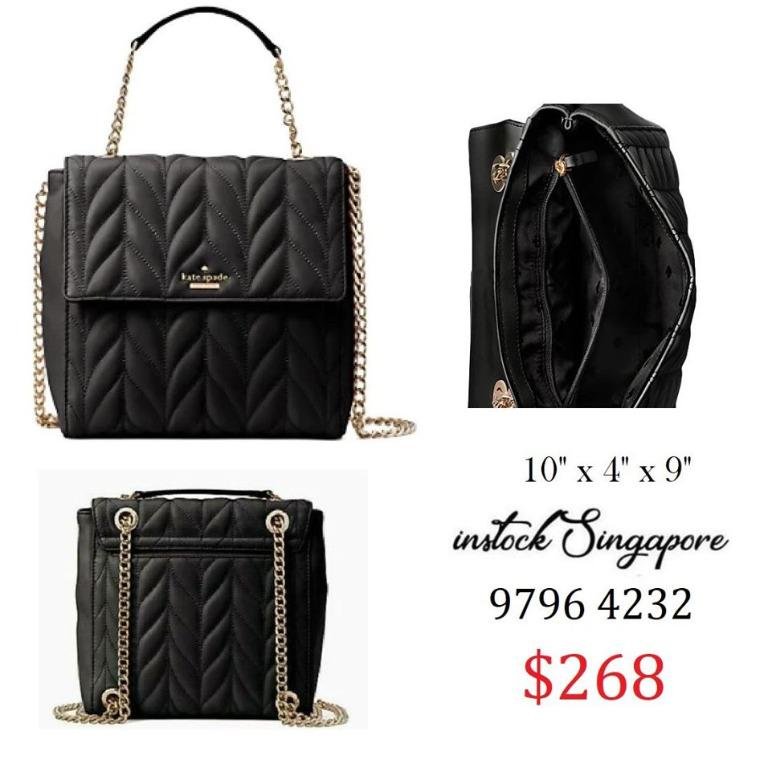 READY STOCK - AUTHENTIC - NEW Kate Spade Brayden Bryar Lane Quilted Leather Backpack Convertible Handbag