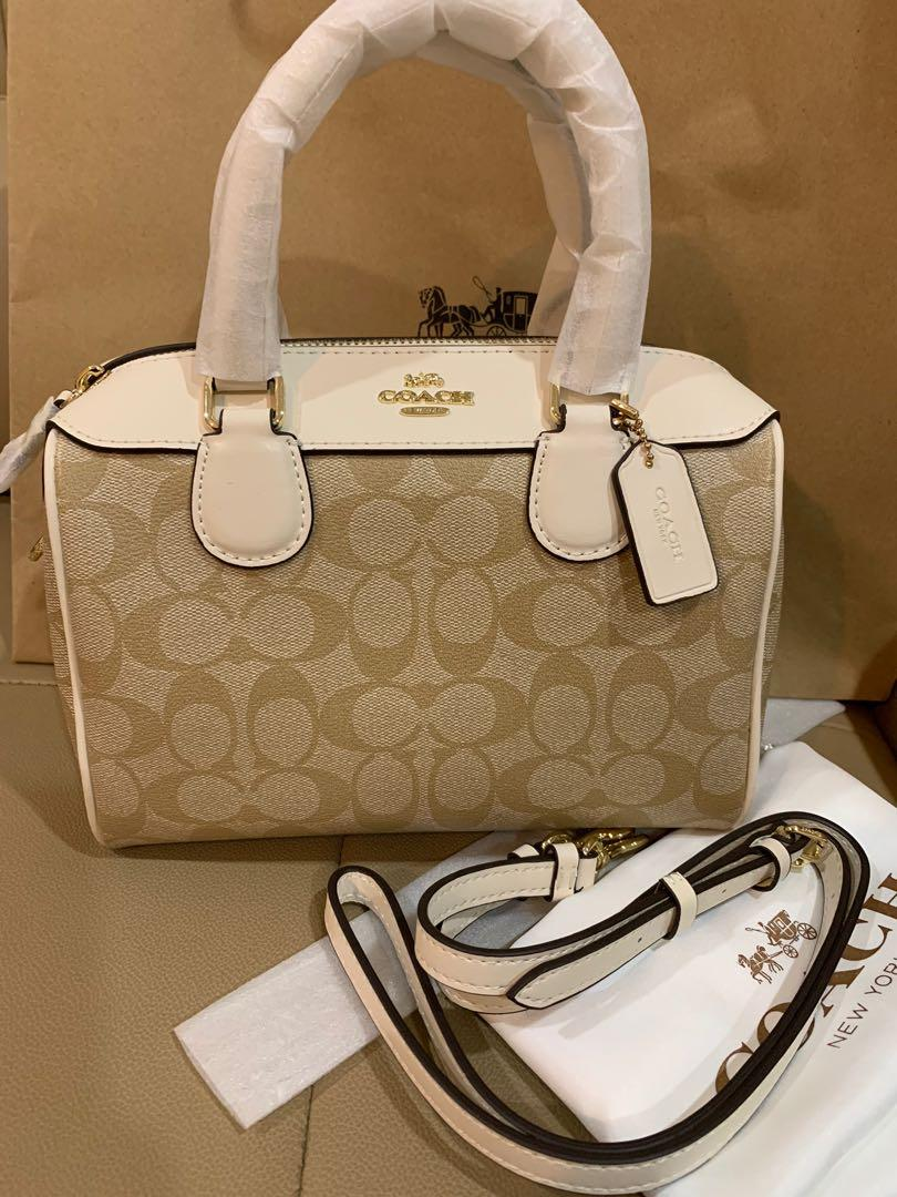 Ready Stock authentic coach 32203 women Bennett in white with crossbody strap