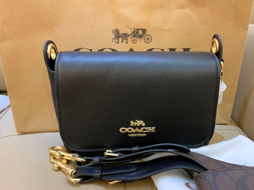 Ready stock authentic coach 77979 women sling bag in black