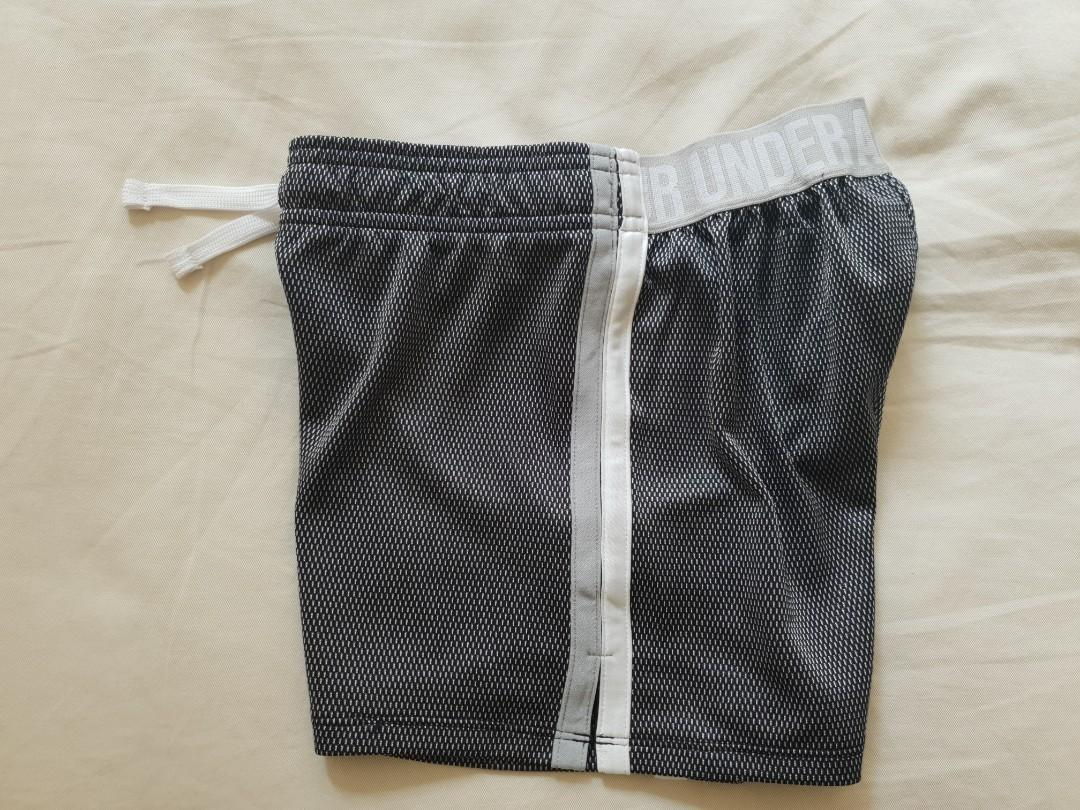 Under Armour Girls Play Up Shorts Silver/Grey Pattern Medium