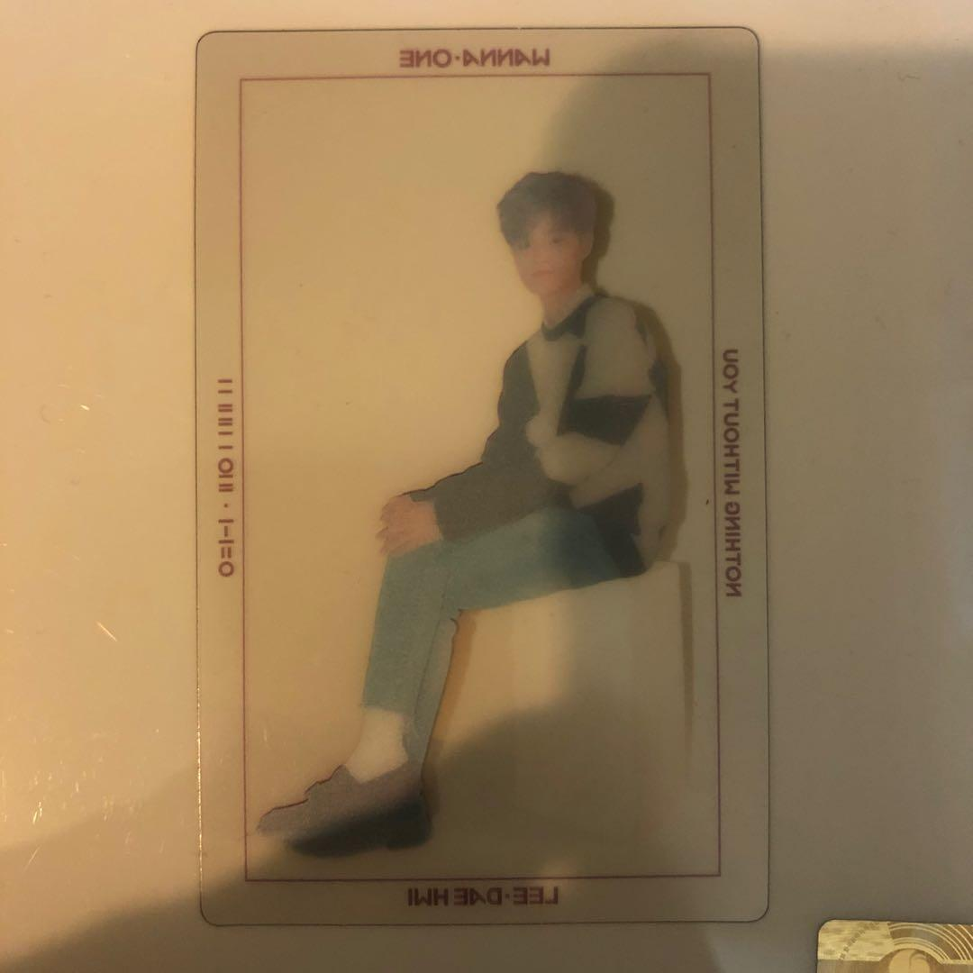 WANNA ONE Nothing Without You (Lee Daehwi Photocard)