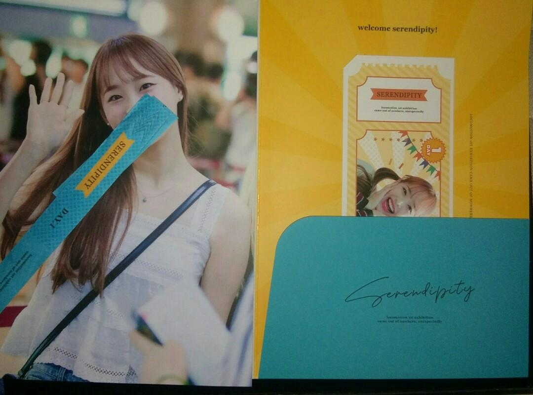 [WTS] LOONA CHUU SERENDIPITY BOOKLET PASS DAY 1 & 2 (LOCOMOTION FIRST EXHIBITION)