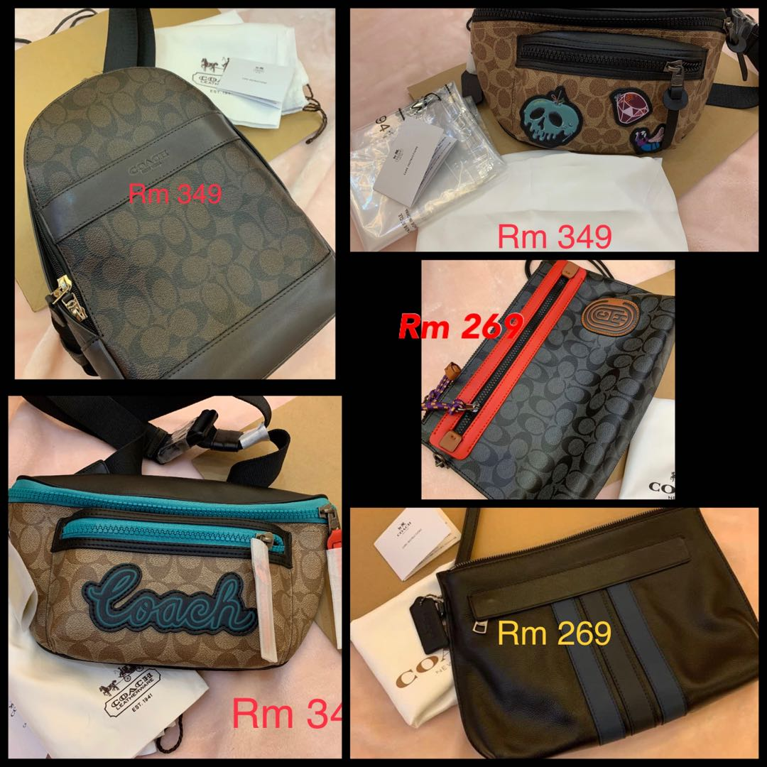 (050120)Ready Stock original coach women bag men bag belt backpack backpack wallet wristlet card holder lanyard  clutch sling bag