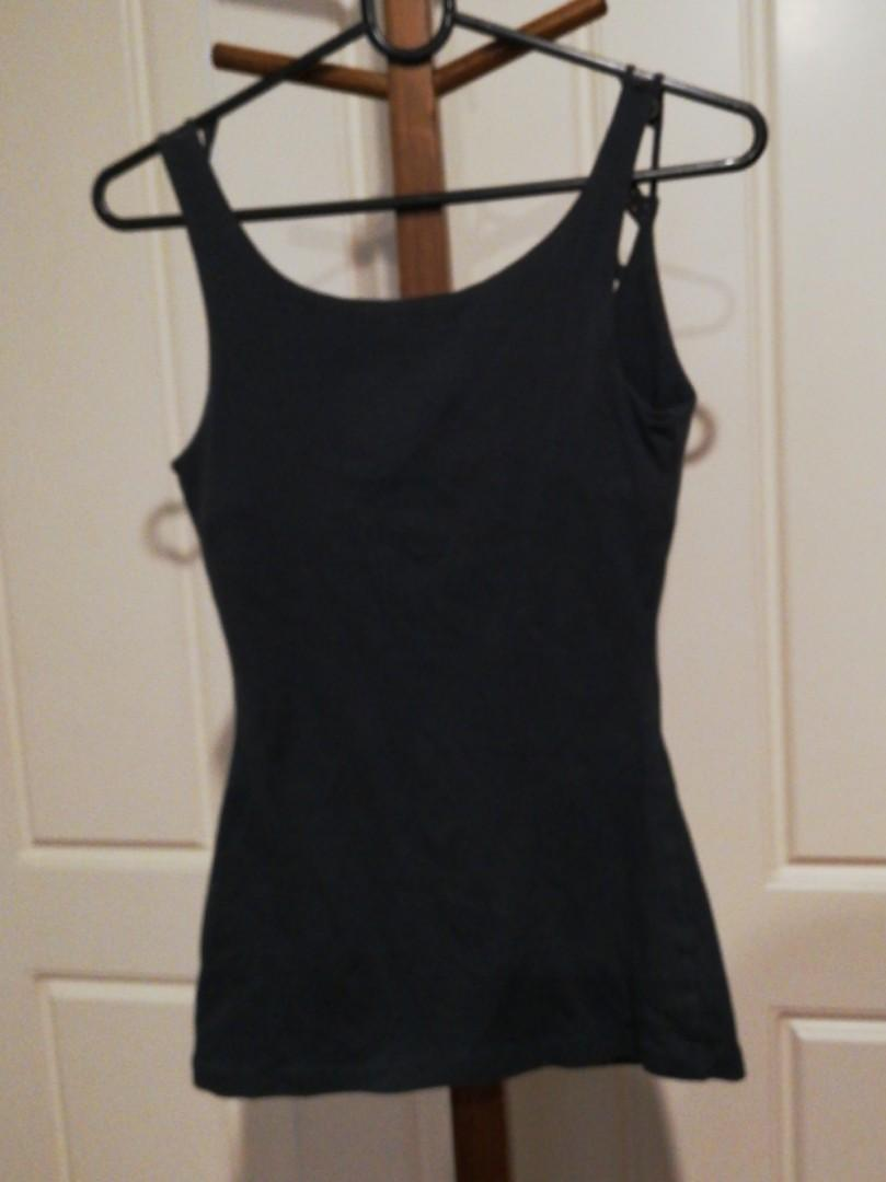1/XS - Kookai - Dark Grey Stringy Strapped Singlet/Top