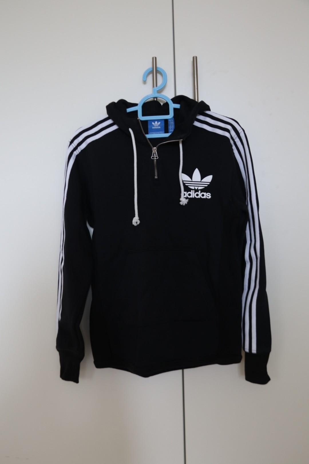 Adidas Originals AC Terry Pullover Hoodie in Black