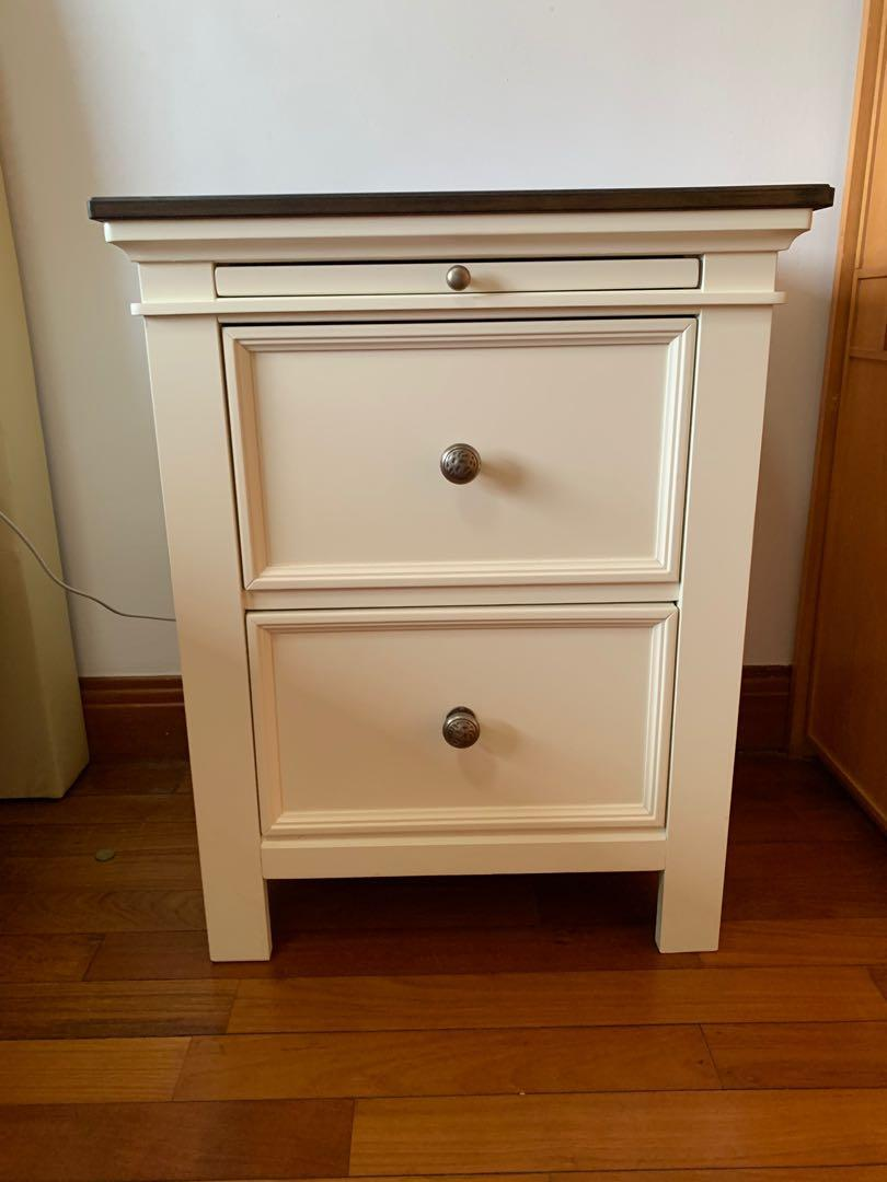Picture of: Ashley Furniture Bedside Table Purchased January 2019 Furniture Shelves Drawers On Carousell