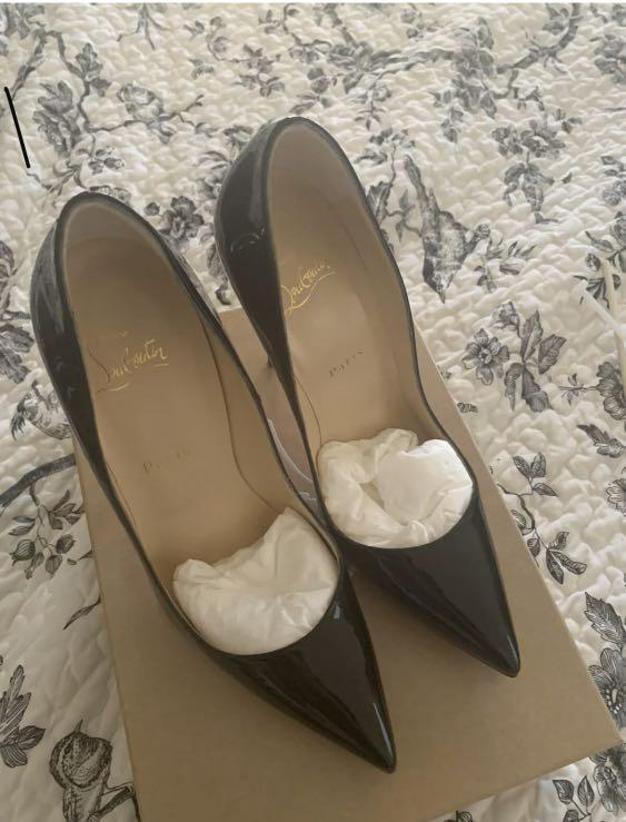 Authentic Christian Louboutins So Kate 39.5 Black Patent