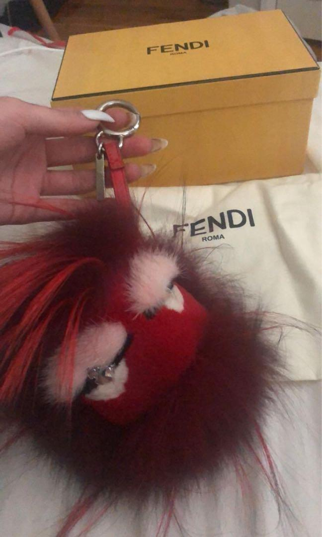 Authentic Fendi furry cracker charm limited edition year of the sheep