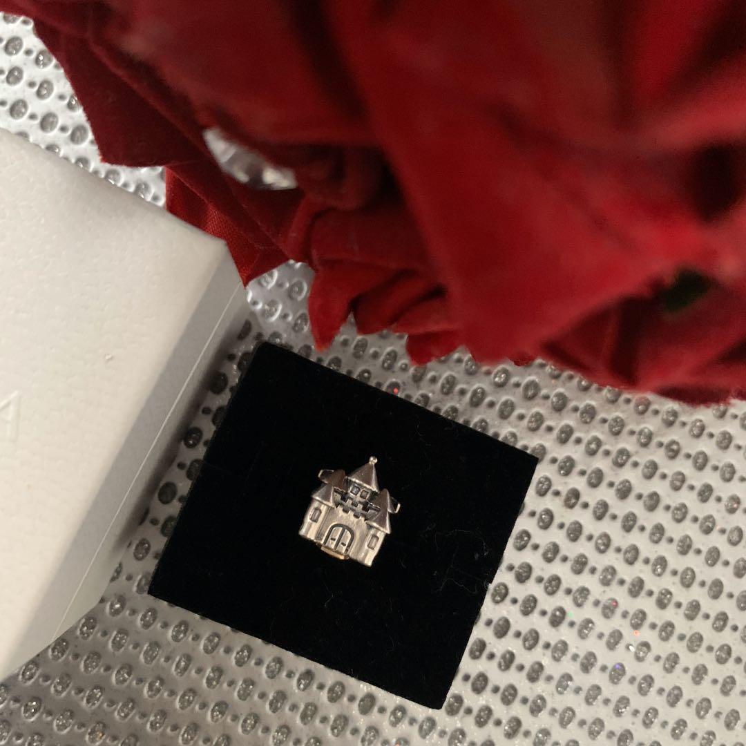 AUTHENTIC PANDORA SILVER & 14ct GOLD CASTLE CHARM - 791133PCZ