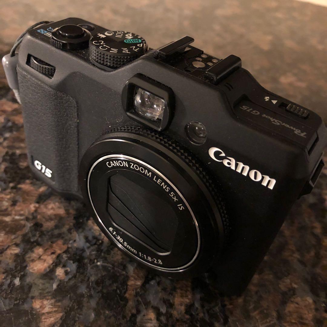 Canon PowerShot G15 Digital Camera + Extra Accessories & Box