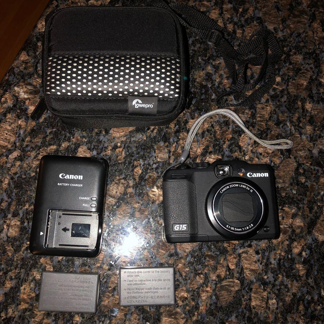 Canon PowerShot G15 Digital Camera + Extra Accessories & Box