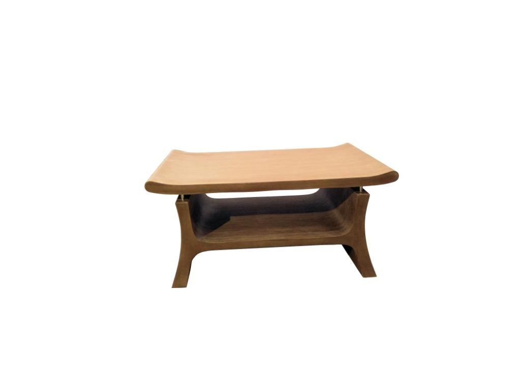 Center Table Coffee Table Unique Design With Walnut Wood Grain Texture Home Furniture Furniture Fixtures Tables Chairs On Carousell