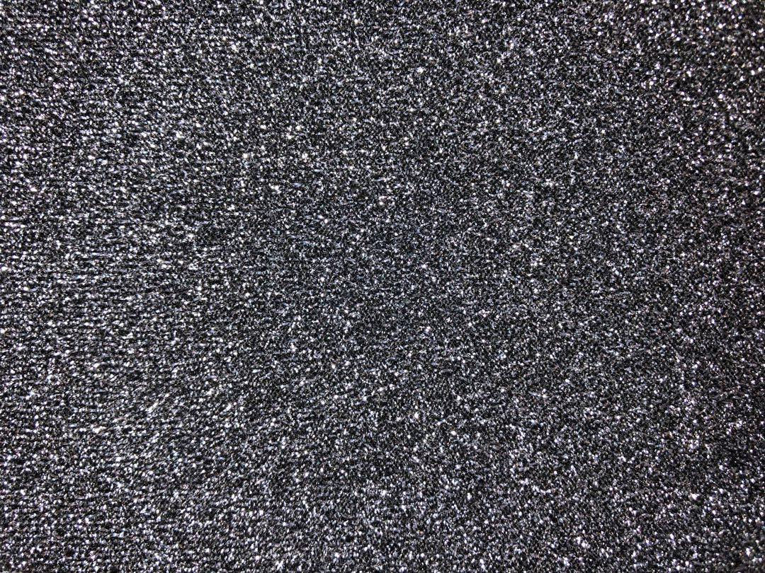Dark grey glitter crop with lime & white/black stripes on both sides
