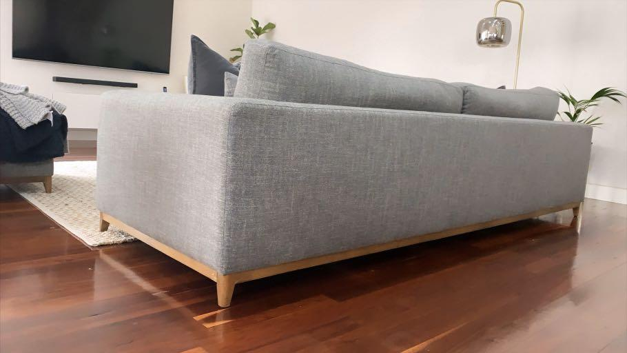 David Jones Aston 4-Seater Lounge with Large Ottomon