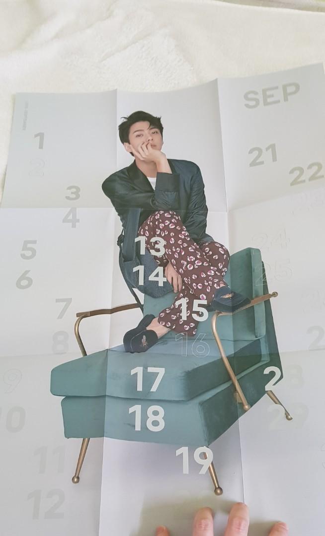 EXO Sehun 2018 season greeting set (planner, poster and photocard)