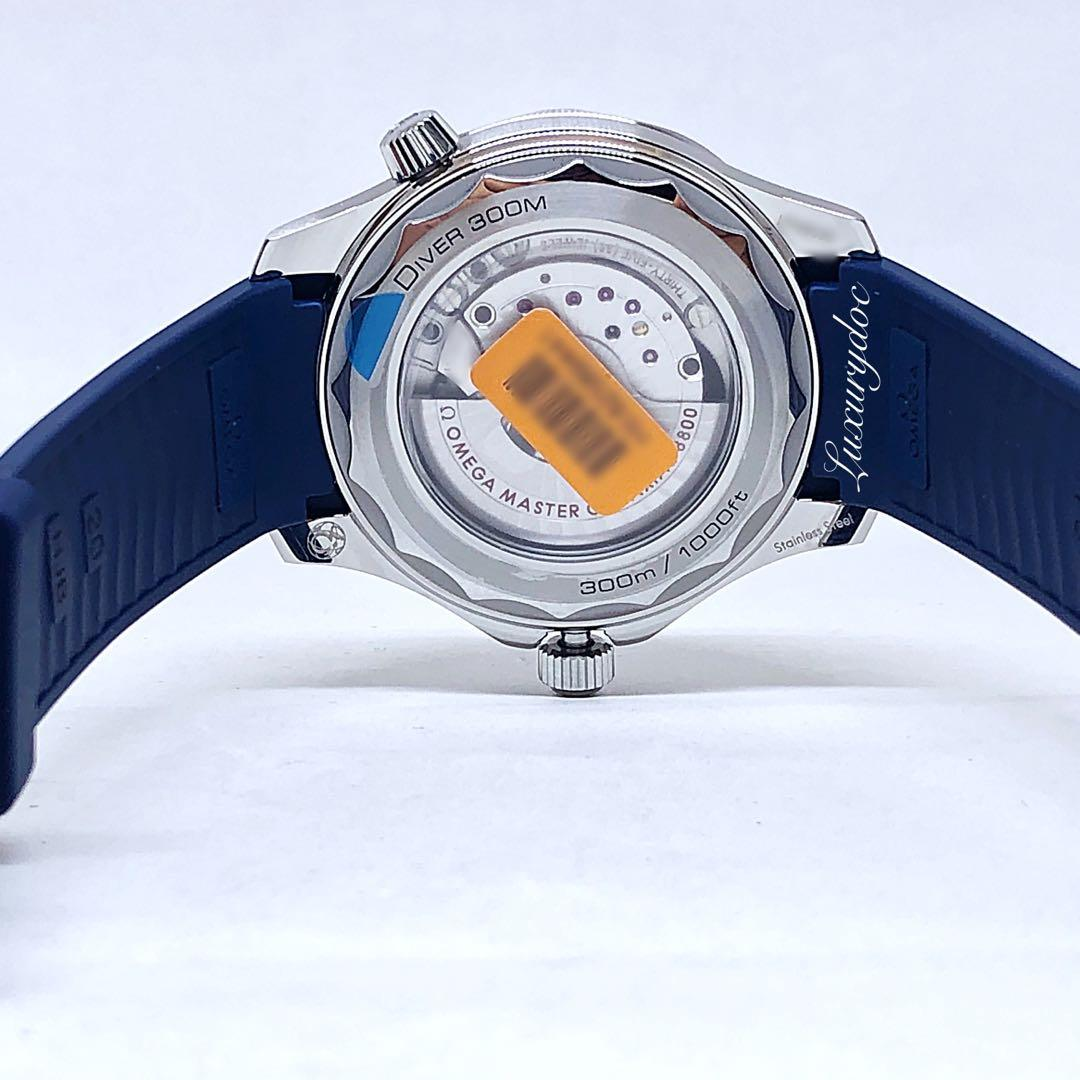 FS.BNIB OMEGA SEAMASTER DIVER 300M CO-AXIAL MASTER CHRONOMETER AUTOMATIC GREY ON BLUE RUBBER 42MM WATCH 210.32.42.20.06.001