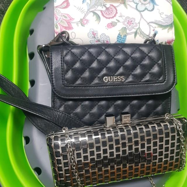 Guess clutch, Collette clutch and Laura Jones wallet