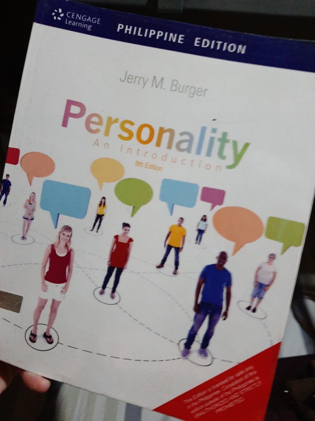 Jeremy Burger Personality: An Introdution (9th Ed.) Psychology Books