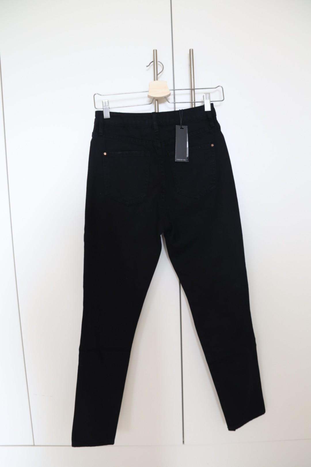 Forever Eve High Rise Mom Jeans in Black Distressed | New with Tag