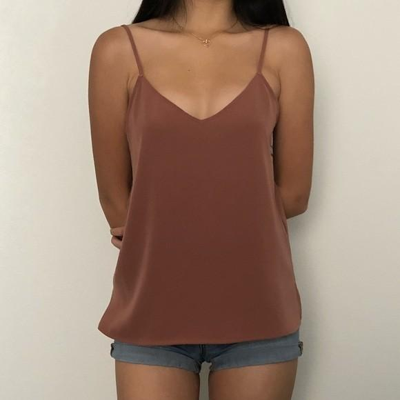Uniqlo Drape Camisole in Dusty Brown/Pink | New without Tag