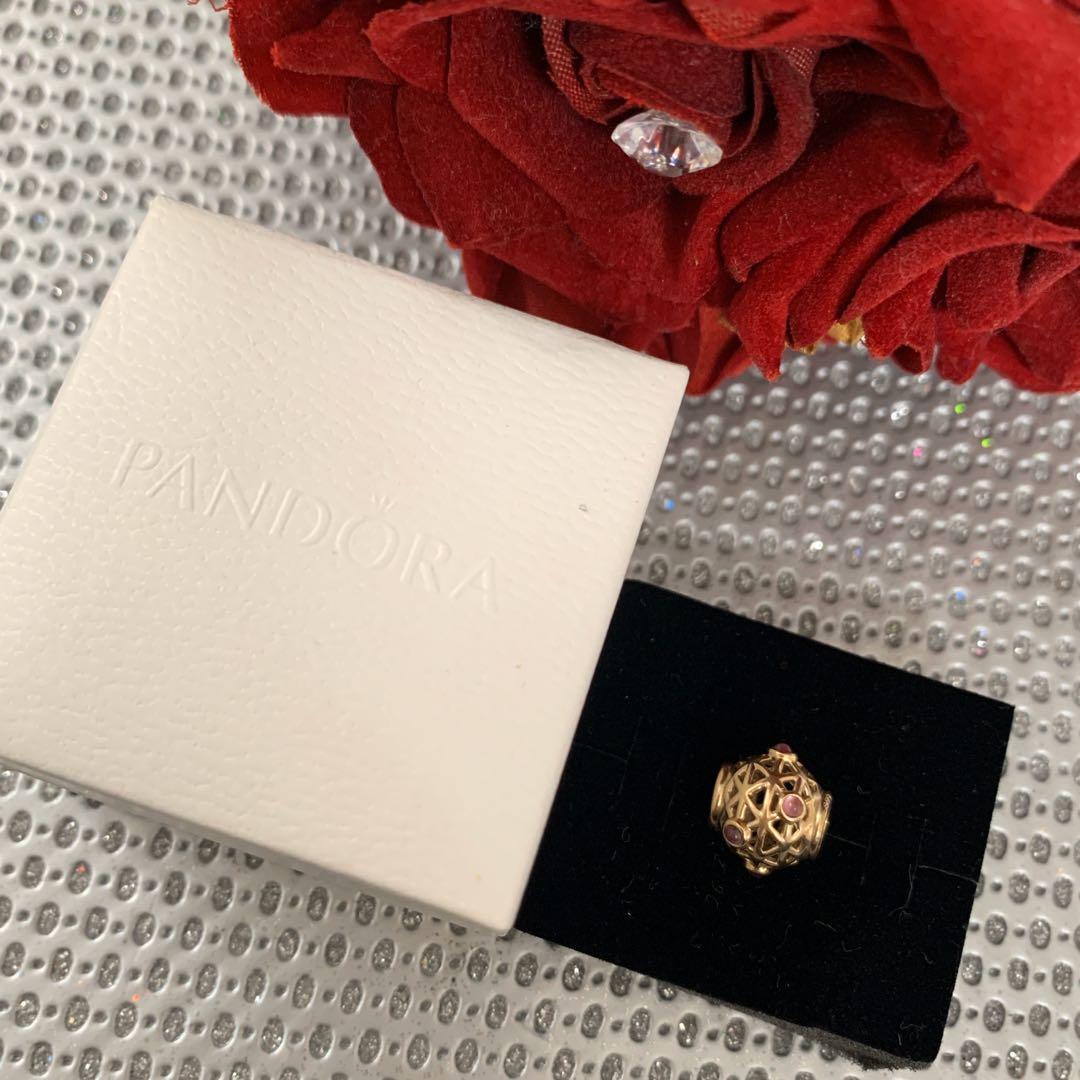 Pandora Rhodolite Constellation Charm - 750508RHL 14k Gold Garnet Bead