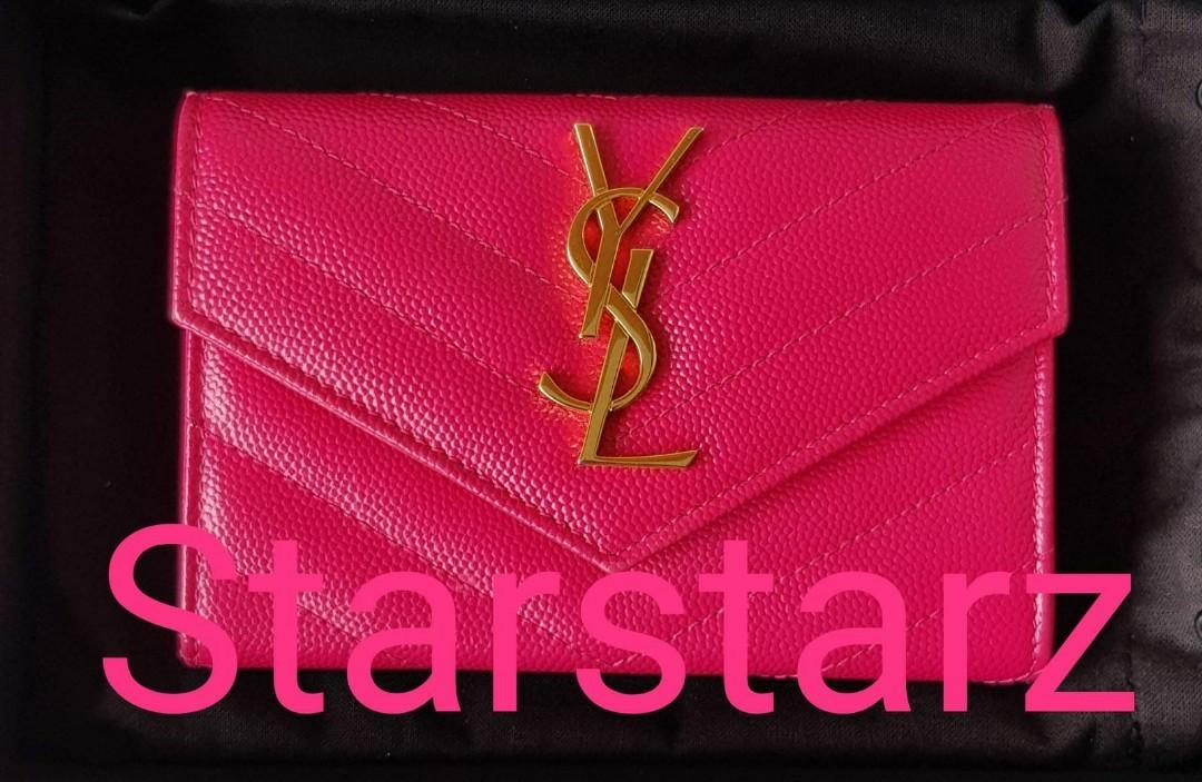 🍒Rare Rasberry pinkish red highly sought after Authentic Chanel ocase wallet purse pouch (spacious 30-40 cards)