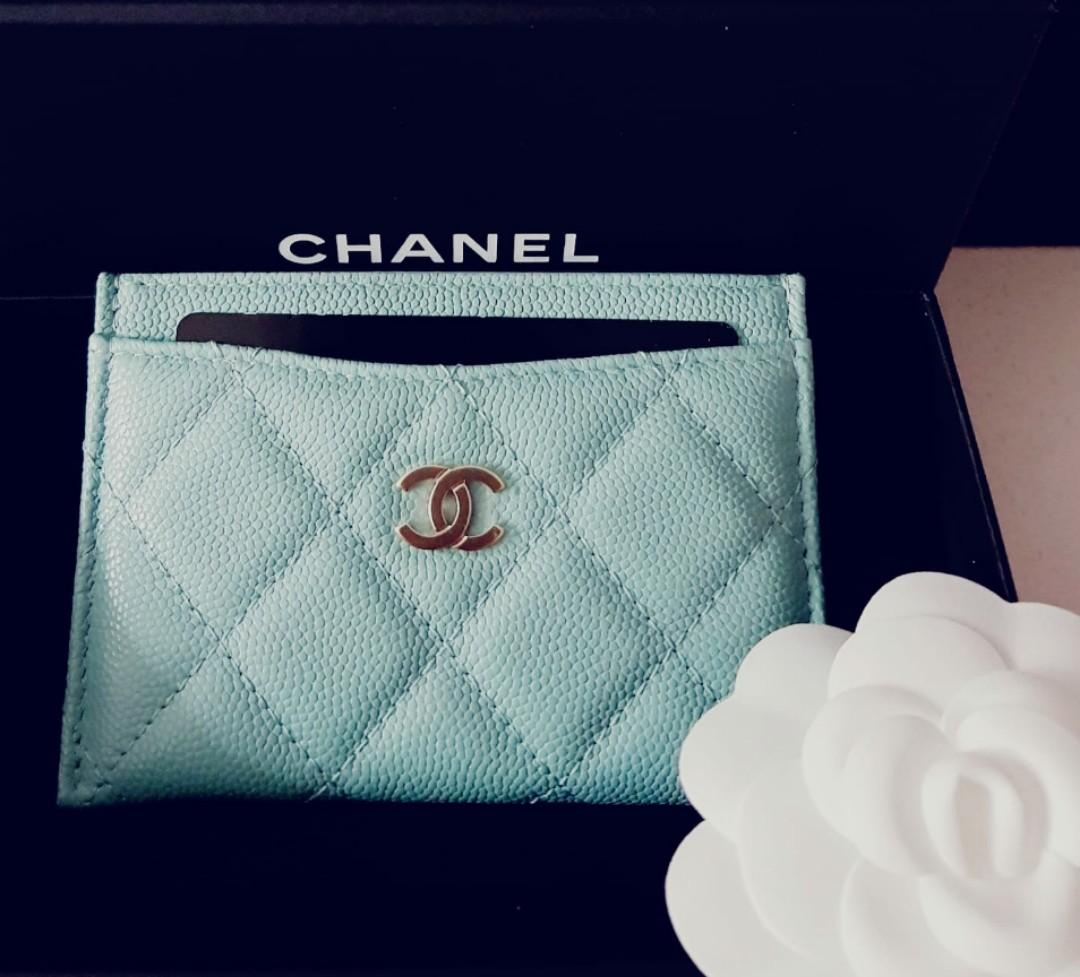 (Resv in Installments)💙Rare Tiffany & Co Blue authentic cardholder wallet (Gold hardware cavair highly sought after)