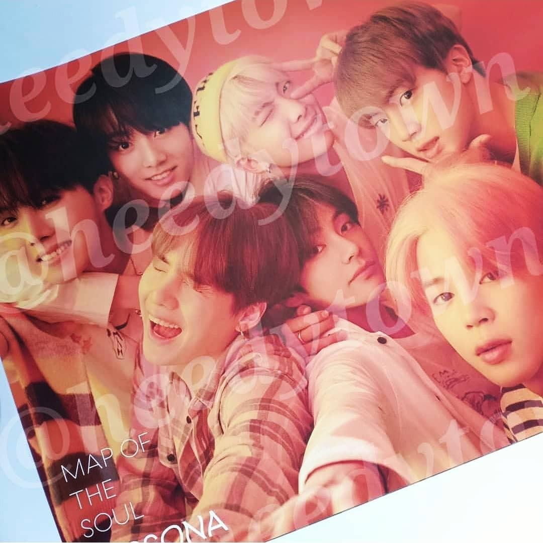 [READY STOCK] OFFICIAL BTS - MAP OF THE SOUL: PERSONA Poster (VER I / II / III)