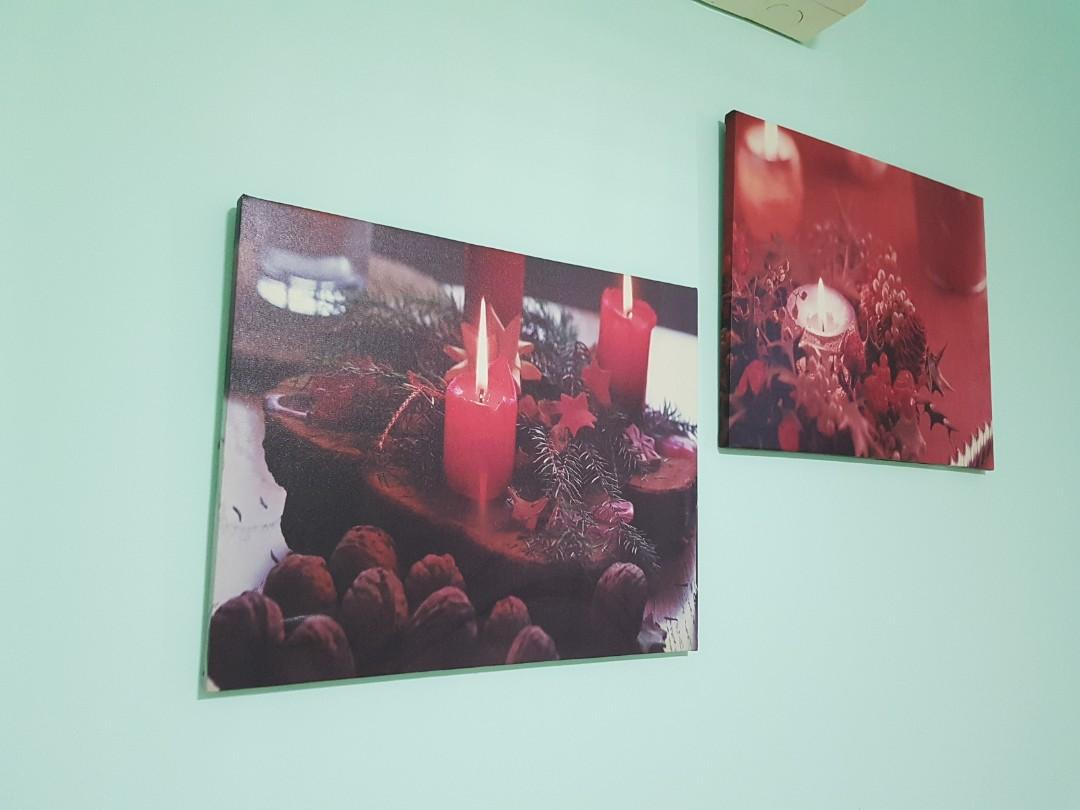 Glowing Candles On Canvas Design Craft Others On Carousell