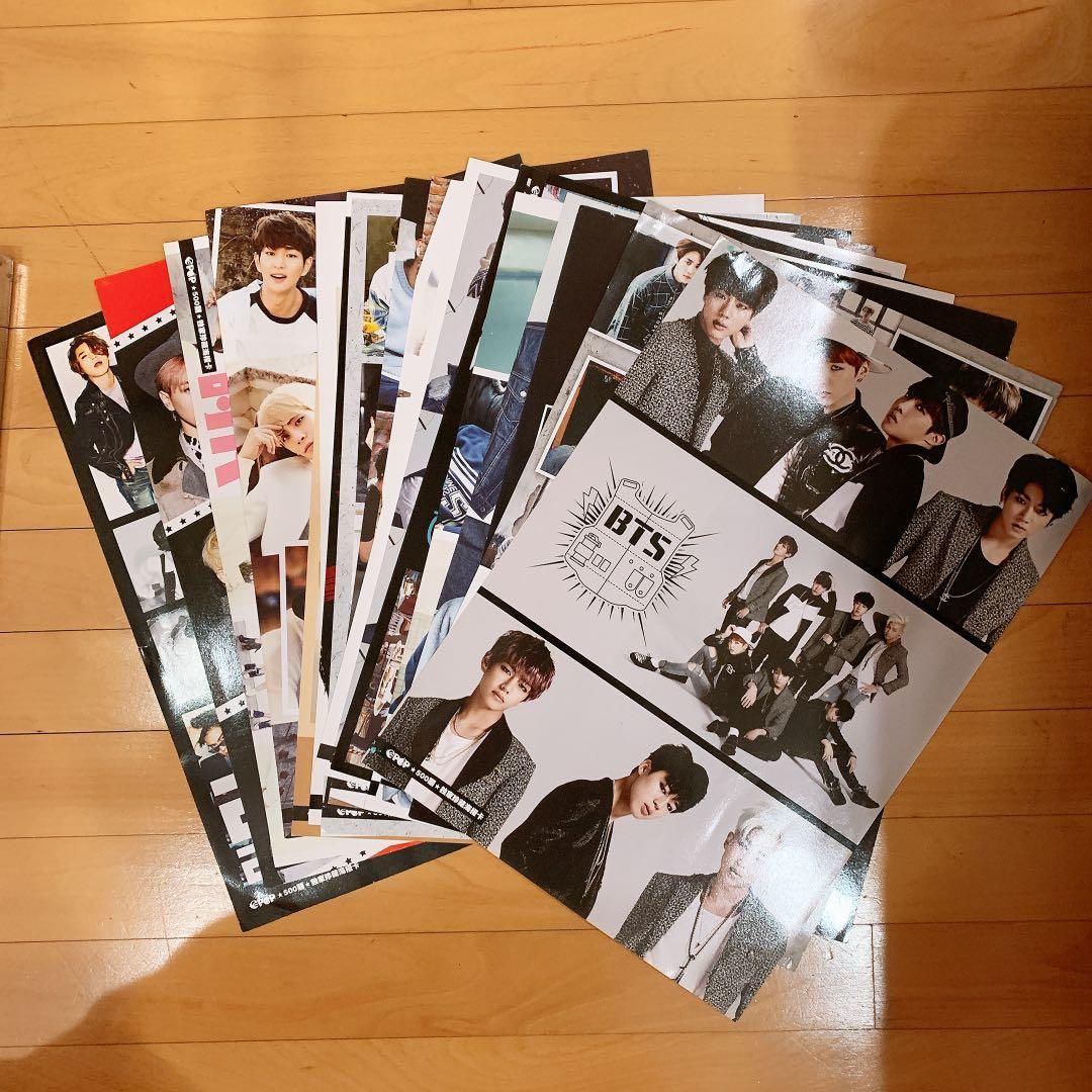 Various Idols Unfolded Poster (BTS EXO BIGBANG SNSD SJ SHINEE GOT7 IKON WINNER TVXQ JYJ INFINITE...)