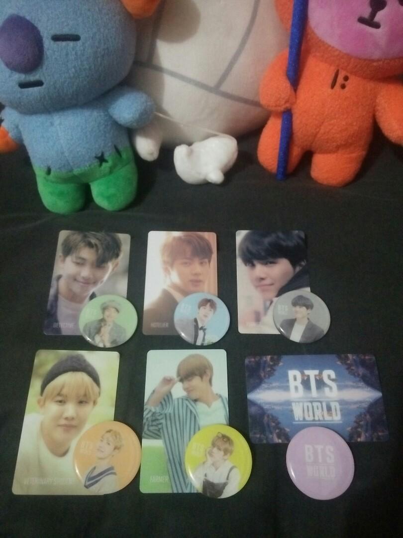 [WTS] BTS World Button Magnet and PC Set Merchandise