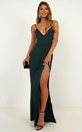 SHOWPO Emerald maxi dress